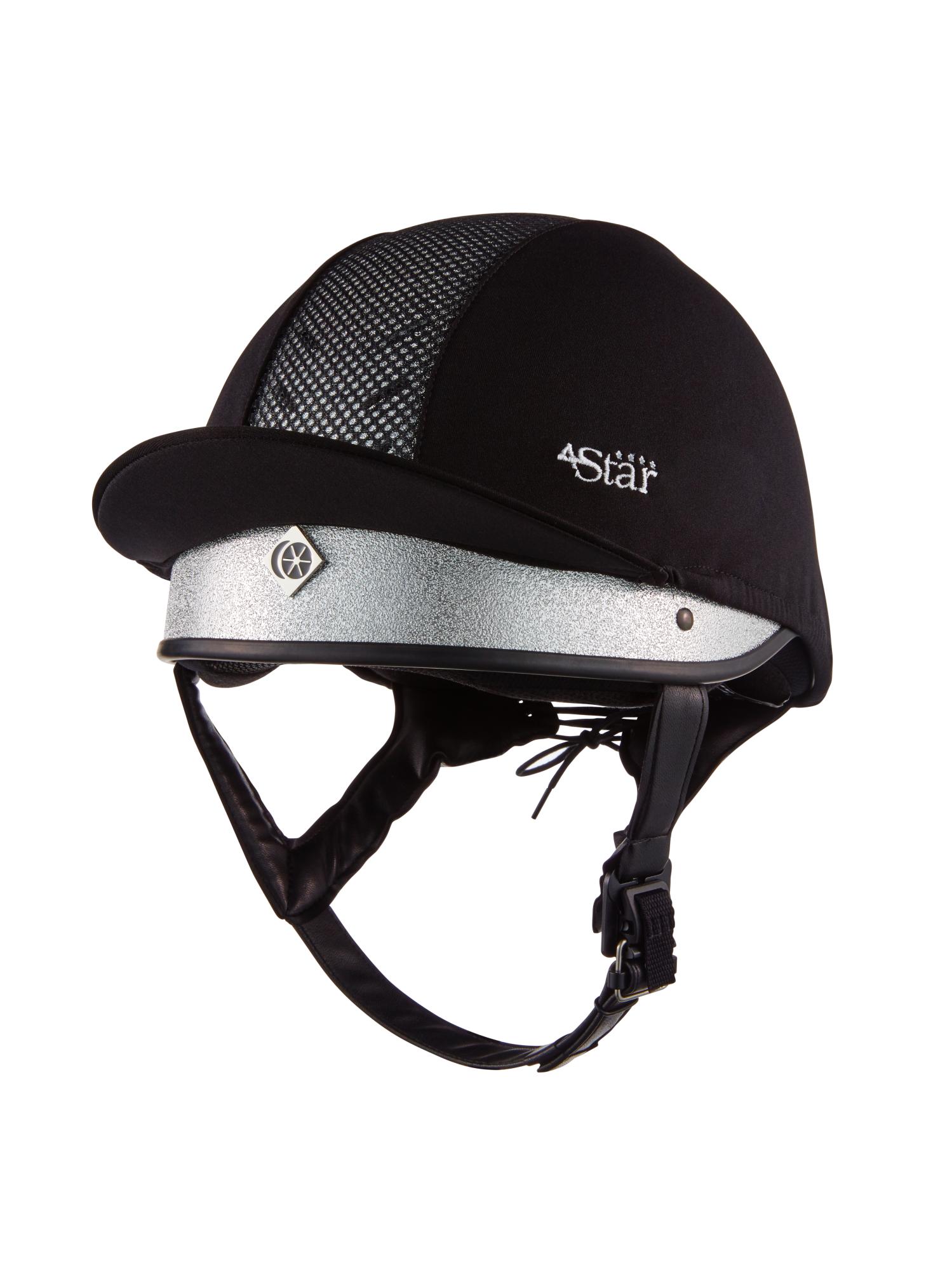 Charles-Owen-4-Star-Jockey-Riding-Helmet-Silver