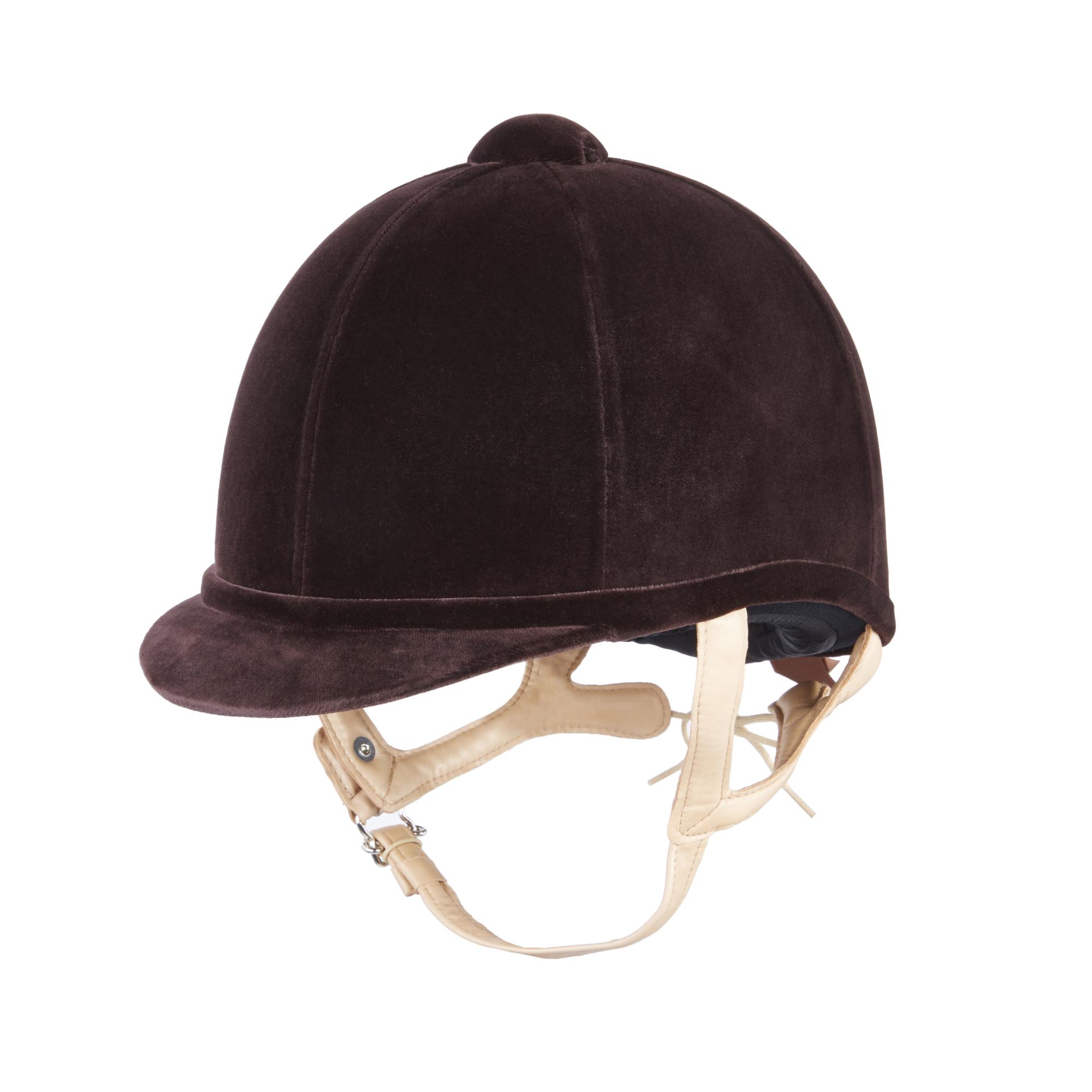 Charles Owen Fian Riding Hat - Braun With Flesh Harness Harness Flesh b39e42
