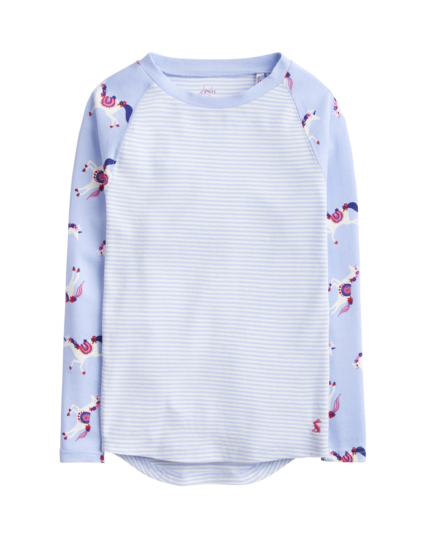 1e657c2736 Joules Junior Sleepwell Jersey Girls Pyjama Set - Sky Blue Unicorn ...