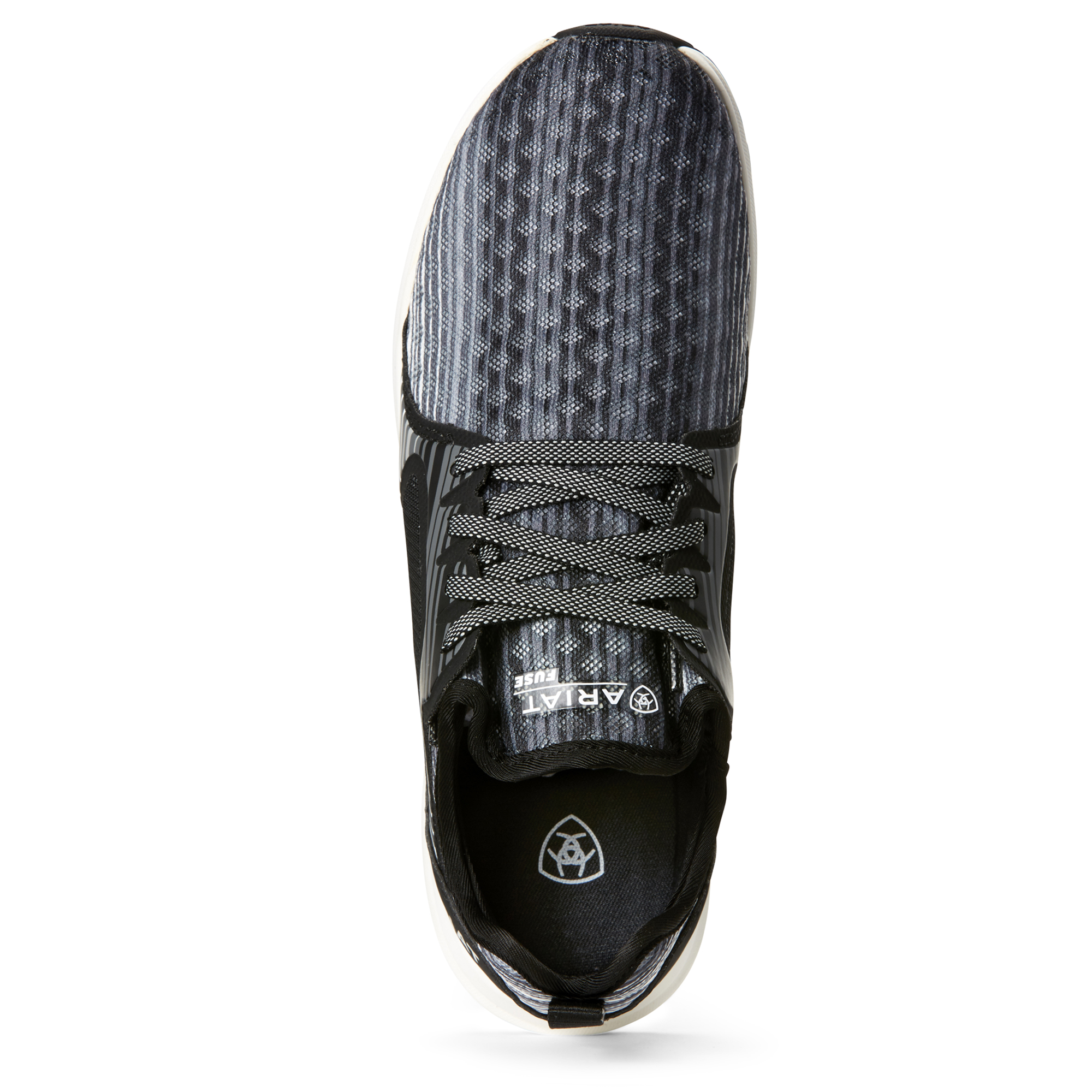 Grey Stripe Ariat Fuse Womens Mesh Trainers