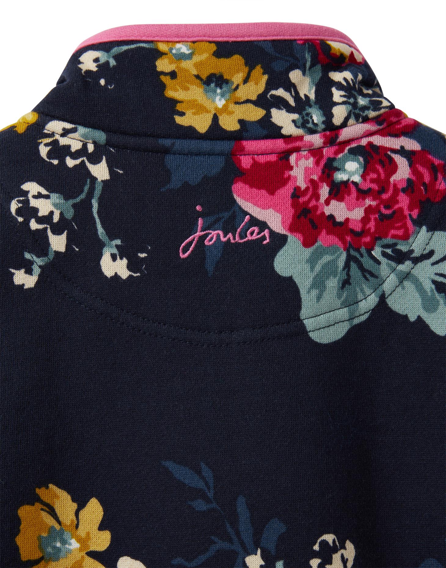 BRAND NEW JOULES GIRLS FLUTTER Ruffle Summer Tunic Top RRP £29 BLUE Floral