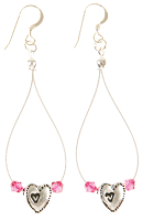 Carrie Elspeth Fuchsia Princess Range: Earrings