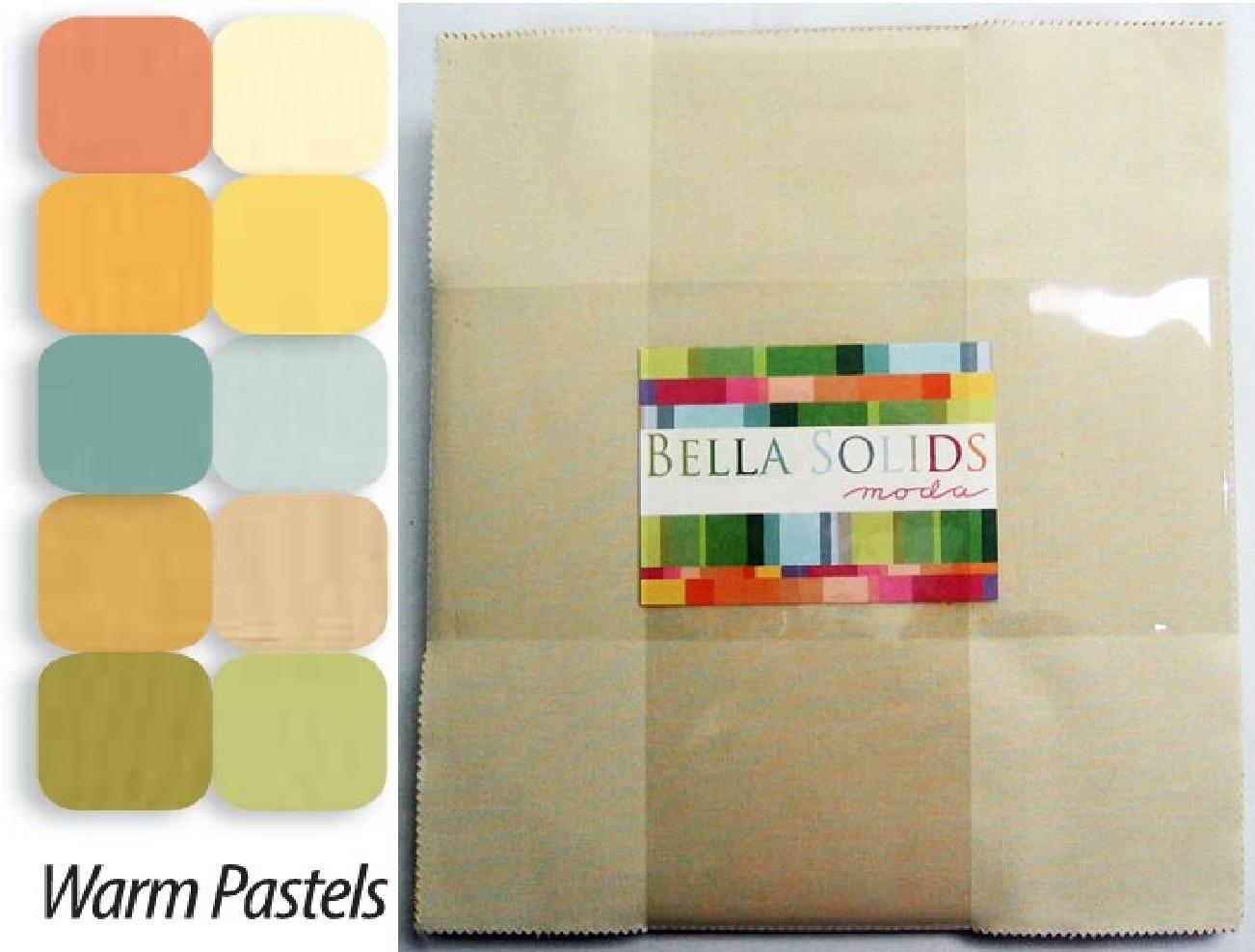 Moda Fabric Bella Solids Layer Cake Warm Ebay