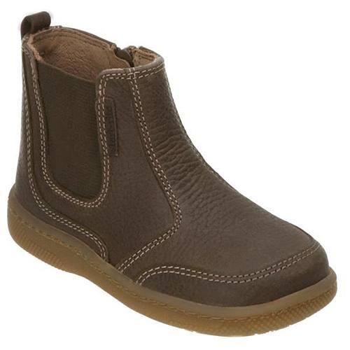 start rite boys brown basil chelsea boot ebay