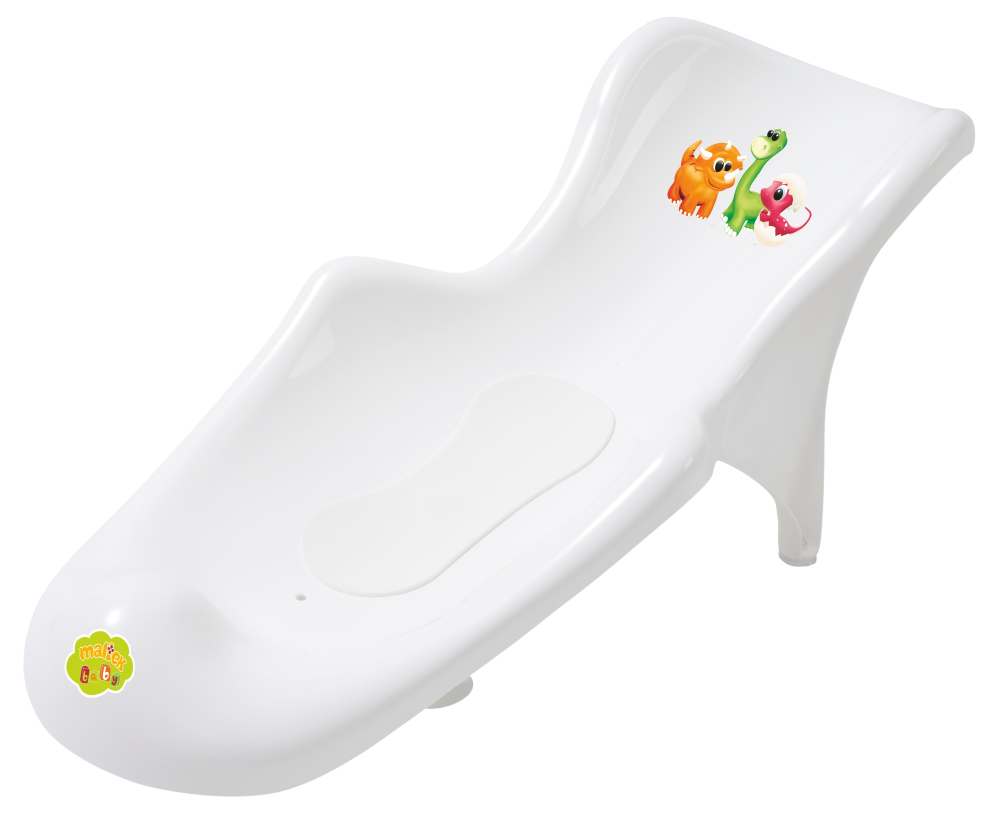 dino baby bathtub bath seat support with anti slip mat ebay. Black Bedroom Furniture Sets. Home Design Ideas