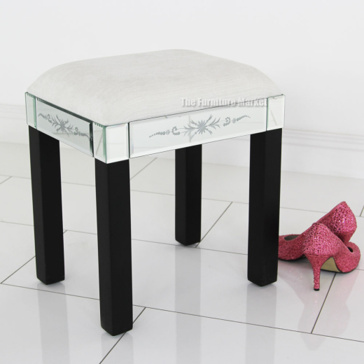 mirrored glass dressing table stool bedroom furniture ven46 ebay