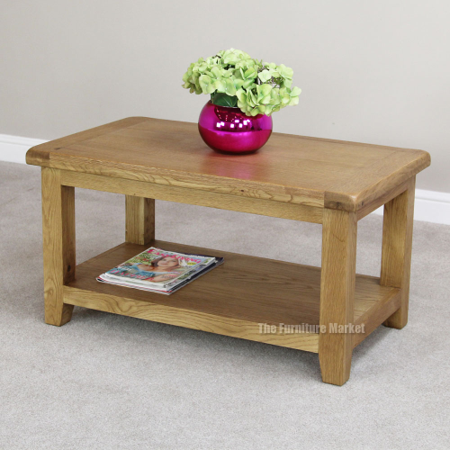 Low Rustic Coffee Table: Cheshire Oak Small Rectangle Coffee Table