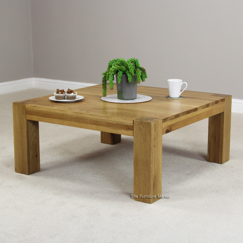 New Chunky Oak Square Coffee Table Living Room Furniture Solid Heavy Unit Uk81 Ebay