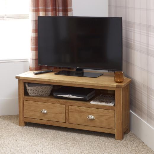 kent oak corner tv unit living room furniture media unit