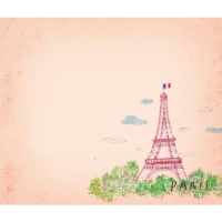 Post-it note: Eiffel tower - Pink