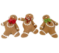 Gisela Graham Fabric gingerbread man