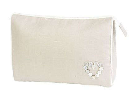 Button Heart Toiletries bag