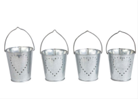 Heart pierced galvanised votives