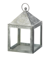 Parlane Grey Heart Lantern Large