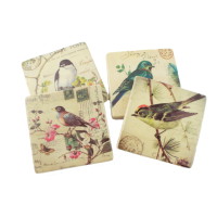 Decorative Bird Resin Coasters, Set Of 4 from Gisela Graham