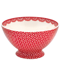 GreenGate Stoneware Soup Bowl Lina Red