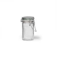 Glass Storage Jar with Spring Top Shutter Blue ceramic Lid,75ml