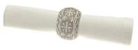 Waltons of Yorkshire Snowflake Napkin Ring Grey (Set 4)