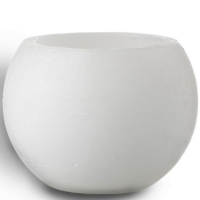 Broste Wax Hurricane Sphere In Pure White - Medium