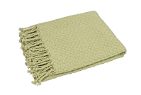 Waltons of Yorkshire Basket Weave Throw Willow