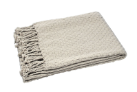 Waltons of Yorkshire Basket Weave Throw Linen