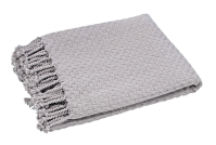 Waltons of Yorkshire Basket Weave Throw Argent