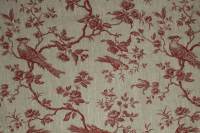 Little Bird Burgundy Fabric