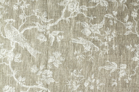 Little bird ivory linen fabric