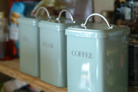 Coffee Canister - Shutter Blue