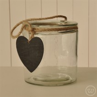 Lantern with chalk heart