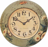 Daisy tin wall clock from Roger Lascelles