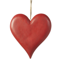 Wooden heart with hanger large
