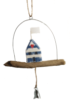 Beach hut hanger with fish