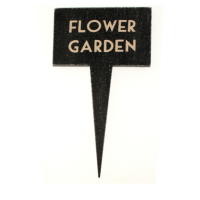 East of India Black Garden Sign-Flower Garden