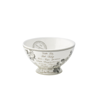 GreenGate Stoneware Soup Bowl Dora White