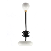 White/Black Enamel Single Wall Hook from Gisela Graham