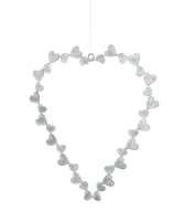 Parlane Grey Metal Heart With dots