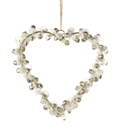 Parlane Button Heart With Silver Bells - Medium