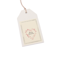 East of India Gift Tag With Merry Christmas