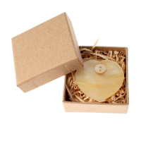 East of India -Shell Heart Brooch-Cream