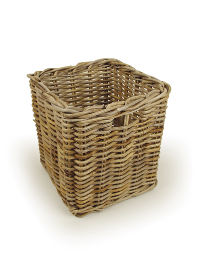Grey Rattan Storage Basket  from TOBS
