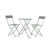 Rive Droite Bistro Set Of Table And 2 Chairs - Shutter Blue from Garden Trading