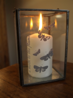 Shoeless Joe Like A Moth To A Flame Glass Lantern - Large