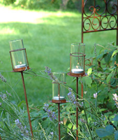 Garden light with glass tube
