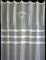 White cotton voile curtain from Biggie Best