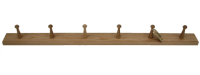 Oak 6 peg rail Natural from Creamore Mill