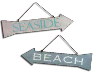Gisela Graham Beach Seaside Sign