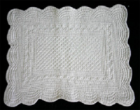 Quilted tray cloth grey
