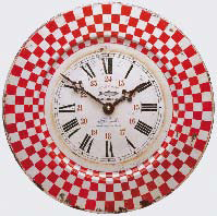 Tin Marseille wall clock