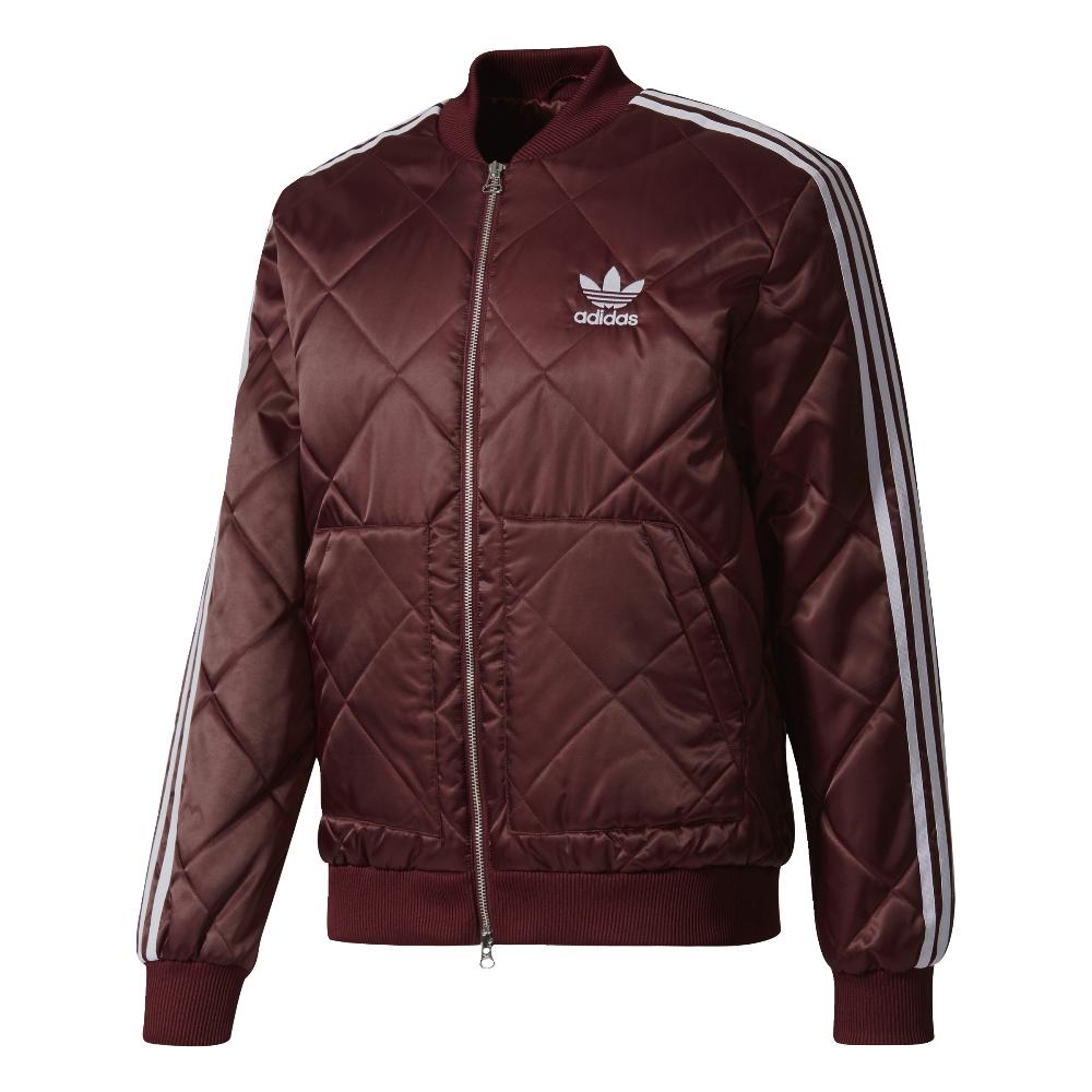 Adidas originals superstar quilted jacket in burgundy ebay